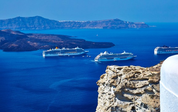 The Imposing Beauty Of The Caldera In Santorini