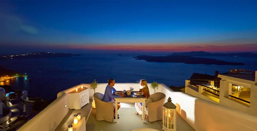 View Restaurant Greek Food Photo Couple